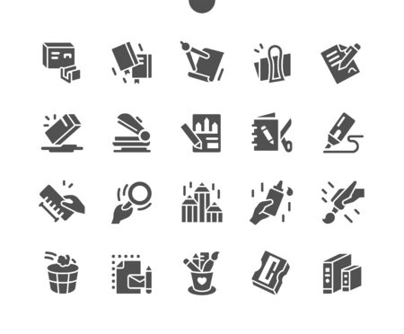 Stationery Well-crafted Pixel Perfect Vector Solid Icons 30 2x Grid for Web Graphics and Apps. Simple Minimal Pictogram