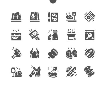 Meat Well-crafted Pixel Perfect Vector Solid Icons 30 2x Grid for Web Graphics and Apps. Simple Minimal Pictogram