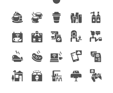 Cafe Well-crafted Pixel Perfect Vector Solid Icons 30 2x Grid for Web Graphics and Apps. Simple Minimal Pictogram