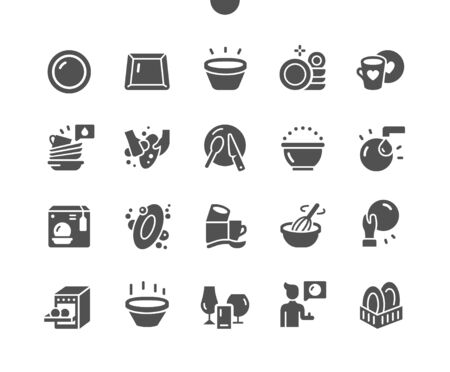 Tableware Well-crafted Pixel Perfect Vector Solid Icons 30 2x Grid for Web Graphics and Apps. Simple Minimal Pictogram Ilustração
