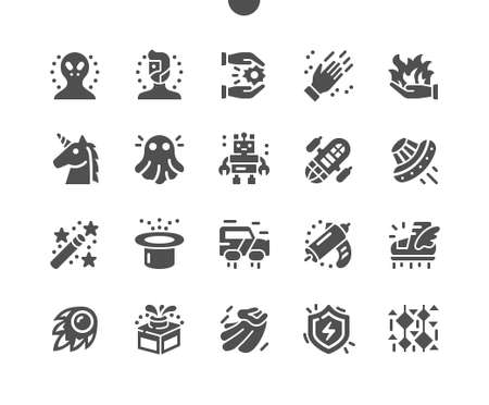 Fantasy Well-crafted Pixel Perfect Vector Solid Icons 30 2x Grid for Web Graphics and Apps. Simple Minimal Pictogram