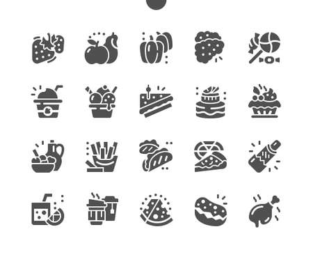 Food 2 Well-crafted Pixel Perfect Vector Solid Icons 30 2x Grid for Web Graphics and Apps. Simple Minimal Pictogram Ilustração