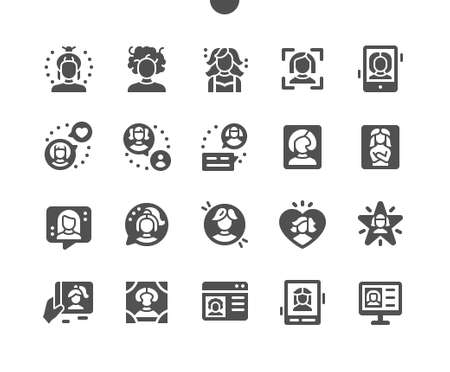 Woman avatar Well-crafted Pixel Perfect Vector Solid Icons 30 2x Grid for Web Graphics and Apps. Simple Minimal Pictogram