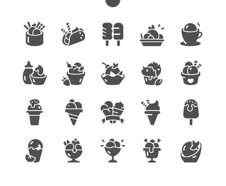 Ice cream 2 Well-crafted Pixel Perfect Vector Solid Icons 30 2x Grid for Web Graphics and Apps. Simple Minimal Pictogram