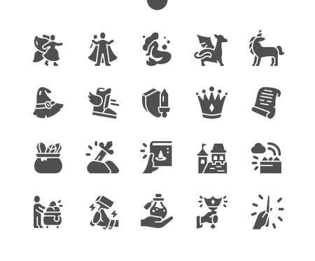 Fantasy 2 Well-crafted Pixel Perfect Vector Solid Icons 30 2x Grid for Web Graphics and Apps. Simple Minimal Pictogram