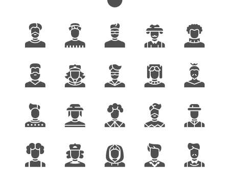Man avatar Well-crafted Pixel Perfect Vector Solid Icons 30 2x Grid for Web Graphics and Apps. Simple Minimal Pictogram