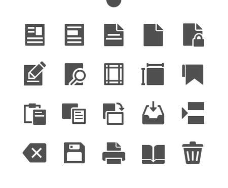 Edit text v2 UI Pixel Perfect Well-crafted Vector Solid Icons 48x48 Ready for 24x24 Grid for Web Graphics and Apps. Simple Minimal Pictogram Ilustração