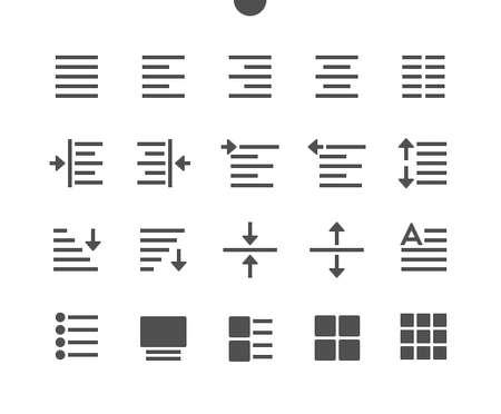 Edit text v1 UI Pixel Perfect Well-crafted Vector Solid Icons 48x48 Ready for 24x24 Grid for Web Graphics and Apps. Simple Minimal Pictogram Ilustração