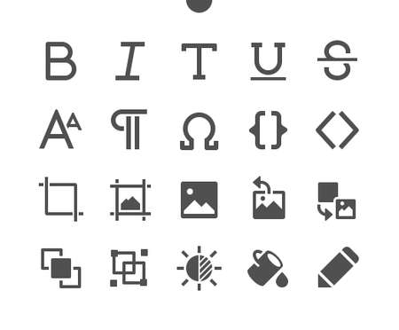 Edit text v3 UI Pixel Perfect Well-crafted Vector Solid Icons 48x48 Ready for 24x24 Grid for Web Graphics and Apps. Simple Minimal Pictogram Ilustração