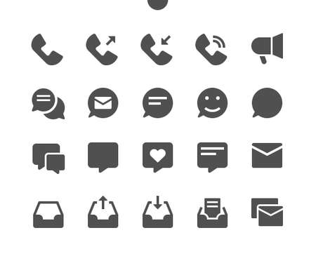 Communication v1 UI Pixel Perfect Well-crafted Vector Solid Icons 48x48 Ready for 24x24 Grid for Web Graphics and Apps. Simple Minimal Pictogram Ilustração