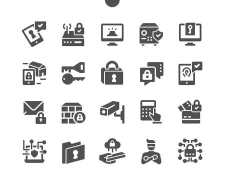 Security Well-crafted Pixel Perfect Vector Solid Icons 30 2x Grid for Web Graphics and Apps. Simple Minimal Pictogram