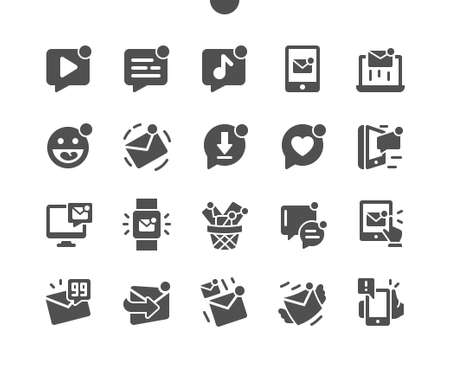 Unread messages Well-crafted Pixel Perfect Vector Solid Icons 30 2x Grid for Web Graphics and Apps. Simple Minimal Pictogram