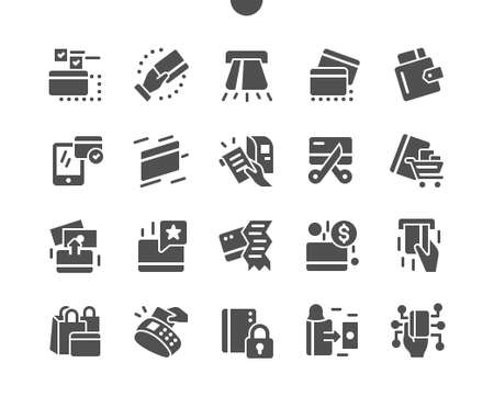Credit Card Well-crafted Pixel Perfect Vector Solid Icons 30 2x Grid for Web Graphics and Apps. Simple Minimal Pictogram Ilustração