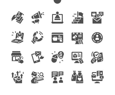 Marketing Well-crafted Pixel Perfect Vector Solid Icons 30 2x Grid for Web Graphics and Apps. Simple Minimal Pictogram