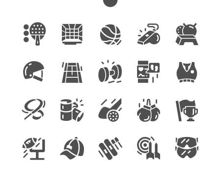 Sport Equipment Well-crafted Pixel Perfect Vector Solid Icons 30 2x Grid for Web Graphics and Apps. Simple Minimal Pictogram