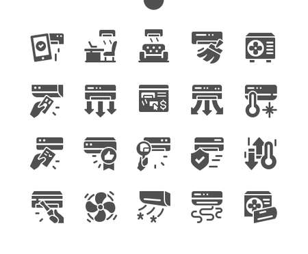 Air Conditioning Well-crafted Pixel Perfect Vector Solid Icons 30 2x Grid for Web Graphics and Apps. Simple Minimal Pictogram