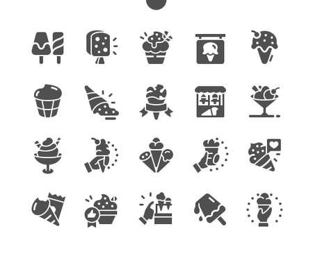 Ice cream Well-crafted Pixel Perfect Vector Solid Icons 30 2x Grid for Web Graphics and Apps. Simple Minimal Pictogram