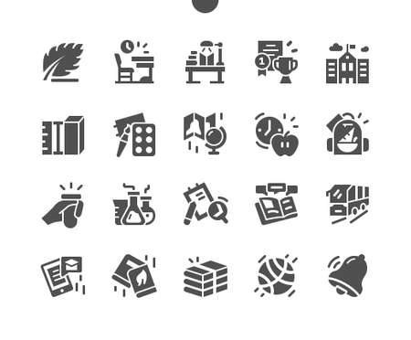 School Well-crafted Pixel Perfect Vector Solid Icons 30 2x Grid for Web Graphics and Apps. Simple Minimal Pictogram