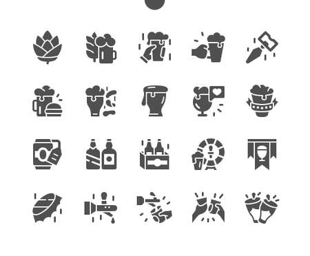 Beer Well-crafted Pixel Perfect Vector Solid Icons 30 2x Grid for Web Graphics and Apps. Simple Minimal Pictogram Ilustração