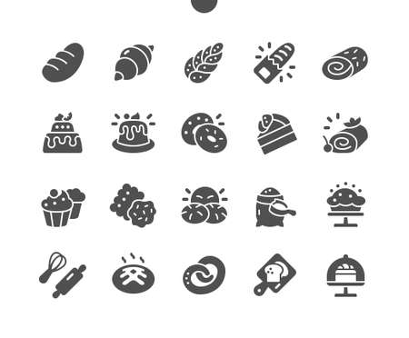 Bakery Well-crafted Pixel Perfect Vector Solid Icons 30 2x Grid for Web Graphics and Apps. Simple Minimal Pictogram Ilustração