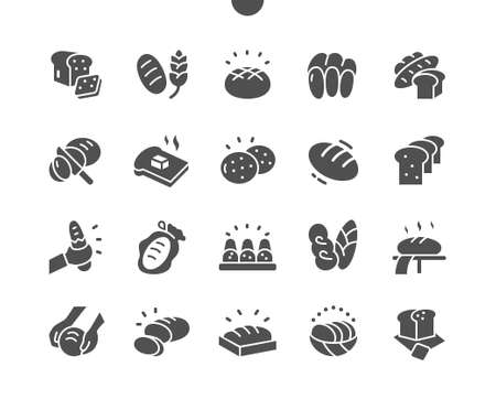 Bread Well-crafted Pixel Perfect Vector Solid Icons 30 2x Grid for Web Graphics and Apps. Simple Minimal Pictogram