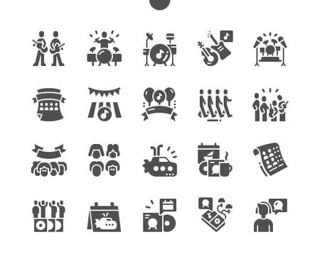 World music Day 16 January. Festive of music. Calendar. January sixteenth. Holiday and celebrate. Yellow submarine. Vector Solid Icons. Simple Pictogram 矢量图像