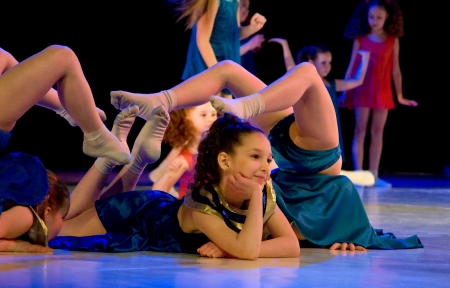 School-theatre of Modern dance POTOKI, Dnepropetrovsk, Ukraine - February 2011, Winter Entertainment (Faces). Kids class  perform composition Egypt