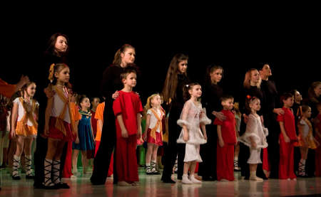 frienship: School-theatre of Modern dance POTOKI, Dnepropetrovsk, Ukraine - February 2011, Winter Entertainment (Faces). School and theatre artists. Rewarding Editorial