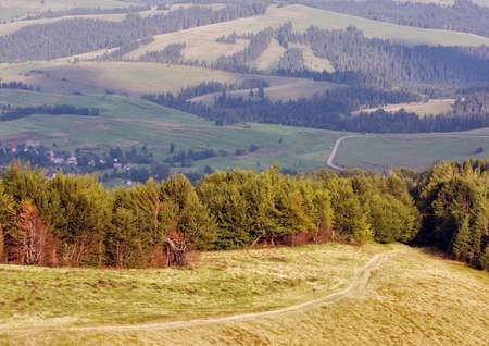 carpathian mountains: Rural landscape of Carpathian Mountains Stock Photo