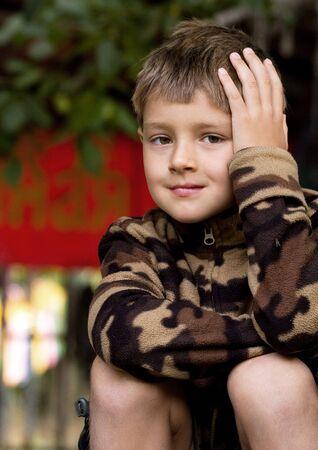 pre schooler: A portrait of a 7 year-old boy