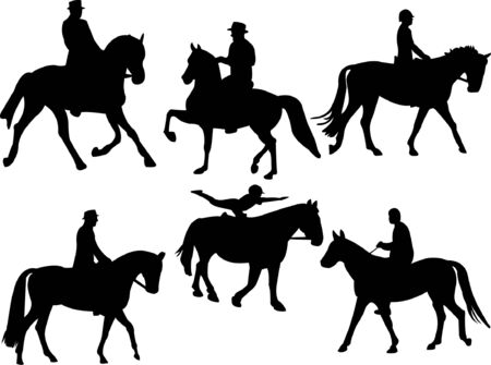 jockey silhouette collection   Vector