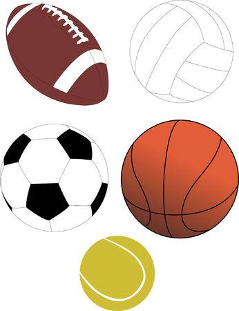 ball collection Stock Vector - 7989776