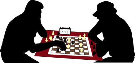 chess players - vector Vector