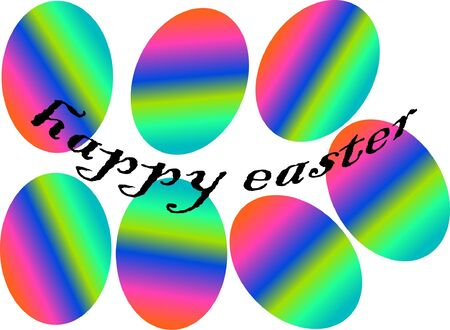 easter eggs in rainbow colors  Illustration