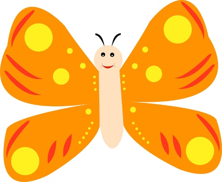 happy butterfly Stock Vector - 9294717