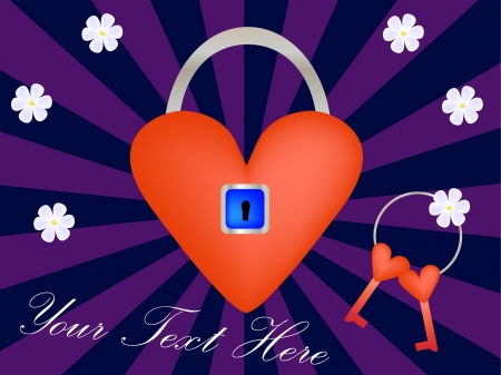locked heart  Illustration