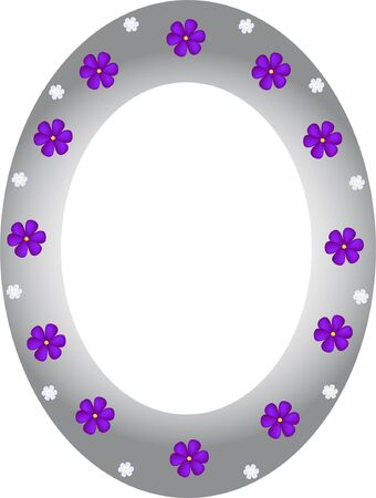 abstract frame with flowers - vector Illustration