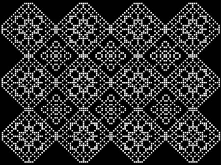 black and white pattern to crochet Stock Vector - 9933374