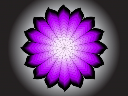 Abstract colored flower on light Vector