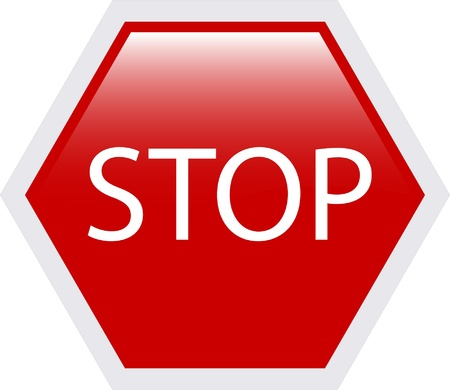 stop sign illustration - vector Stock Vector - 12371896