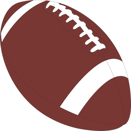 american football ball illustration - vector