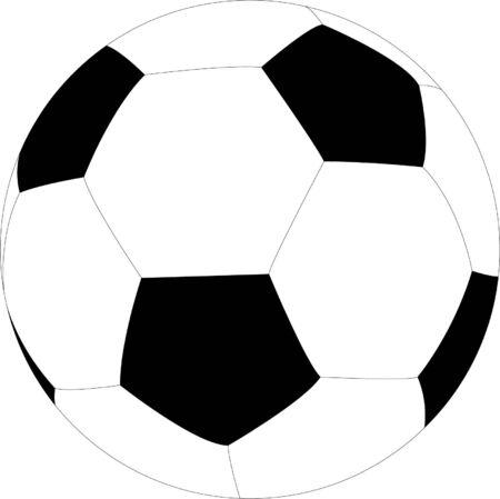 european championship: soccer ball illustration - vector