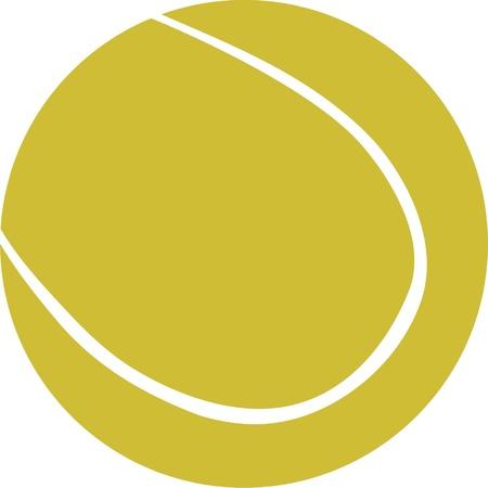 tennis ball illustration - vector Vector