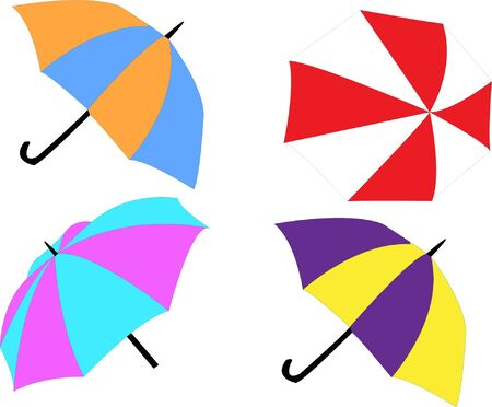 umbrellas illustration - vector Stock Vector - 12371902