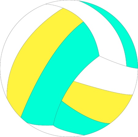 Illustration of volleyball - vector Illustration