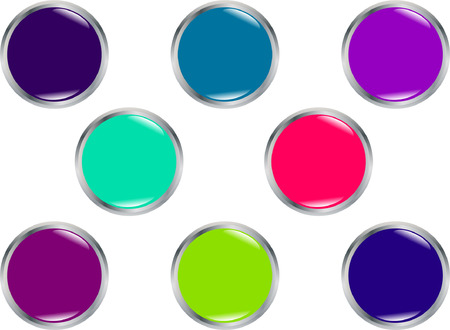 beautiful shiny buttons - vector Illustration
