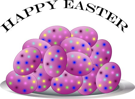 easter eggs - vector
