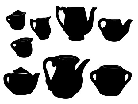 urn: carafe silhouette - vector