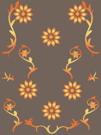 wallpaper with flowers - vector