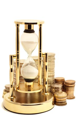avarizia: Golden hourglass with coins